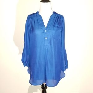 WOMEN'S sz Small Blue Blouse ELLISON
